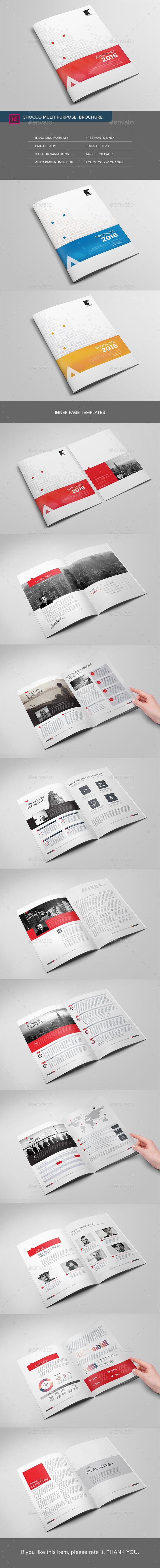 Chocco Multipurpose Brochure  -  InDesign Template • Only available here! ➝ https://graphicriver.net/item/chocco-multipurpose-brochure/15507375?ref=pxcr