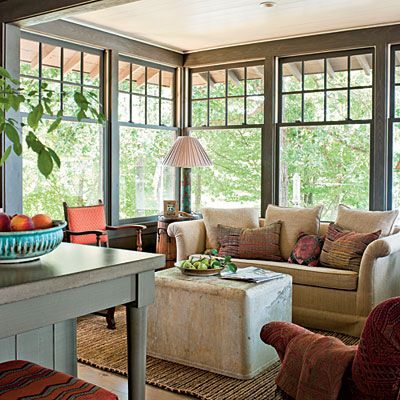 Natural Lake House. Lake House DecoratingDecorating IdeasSunroom ...
