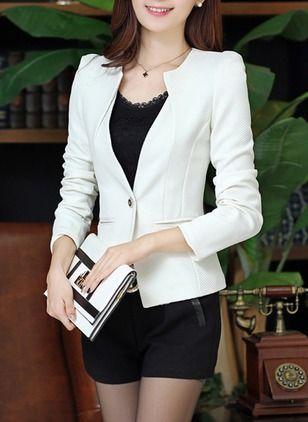 Poliéster Preto Rosa Branco Amarelo Curto Manga comprida Altro Coats & Casacos