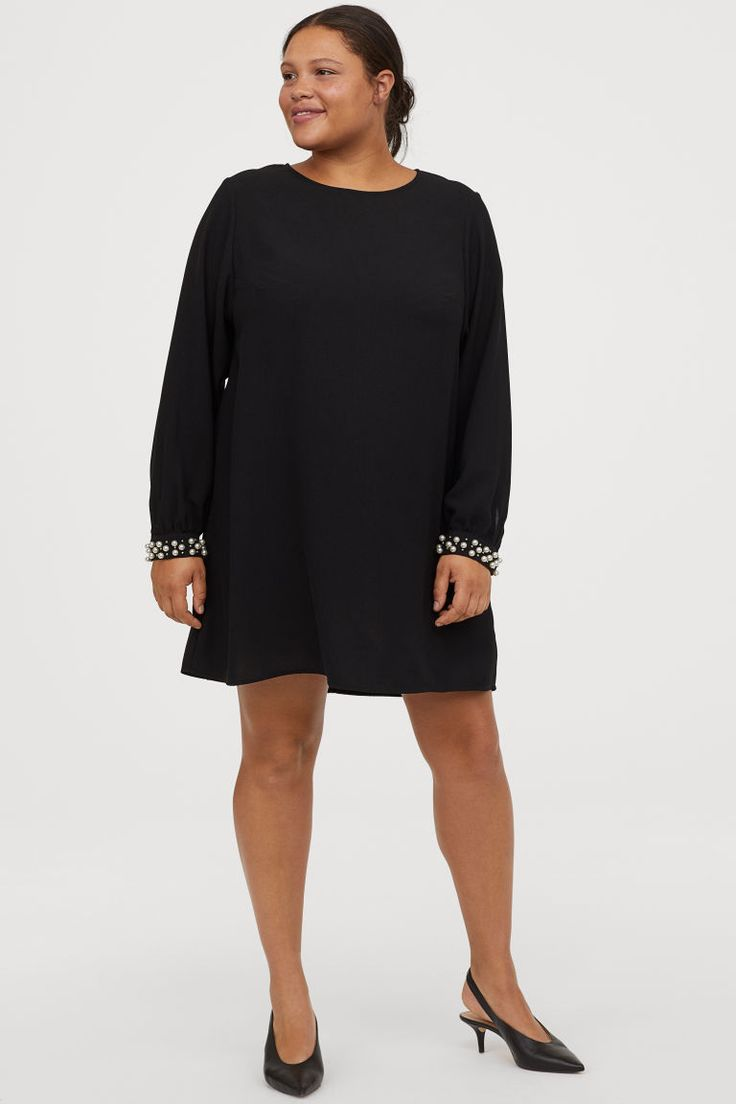 H&M+ Kurzes Kleid - Schwarz - Ladies | H&M DE | Kurze ...