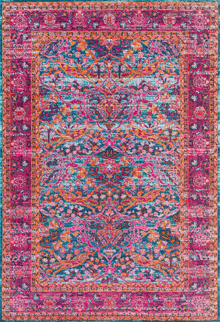 SeasonedWithered Floral Ivies Rug