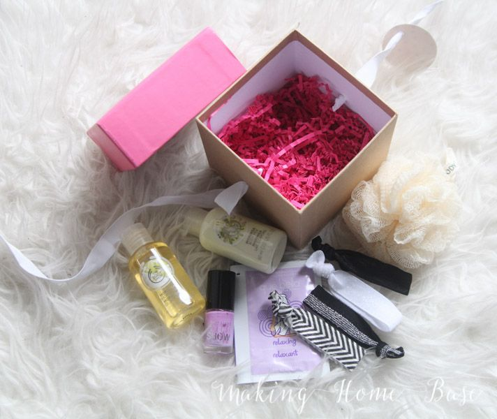 Gift for her ideas - This spa day in a box is a cute and thoughtful gift any girl would love to receive.
