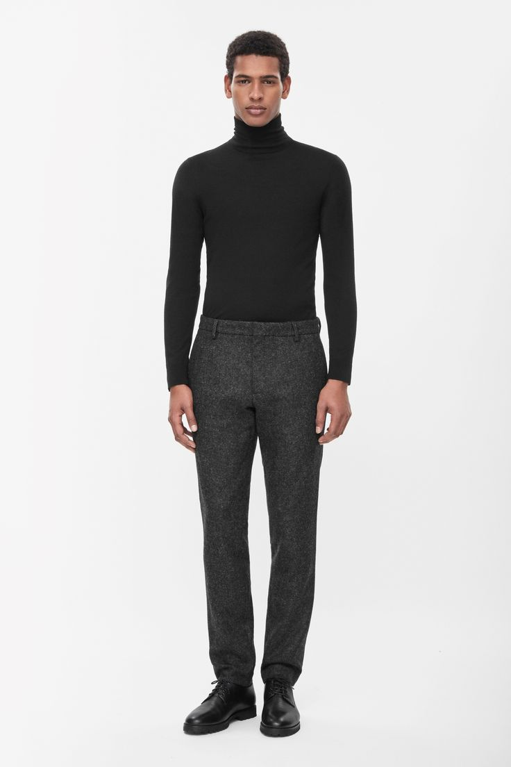 Casual wool trousers