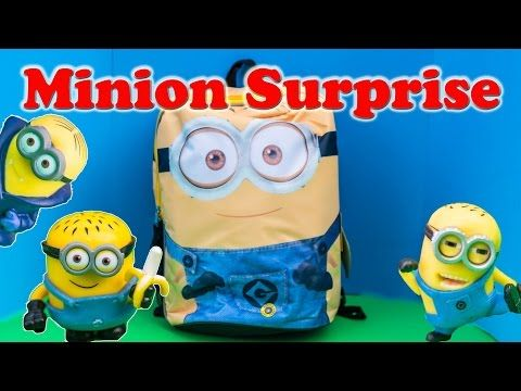 MINION Surprise Backpack Minion & Blaze and the Monster Machine Minion Surprise Video - YouTube