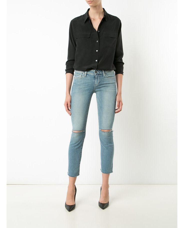 MIKI STRAIGHT RAW HEM JEAN