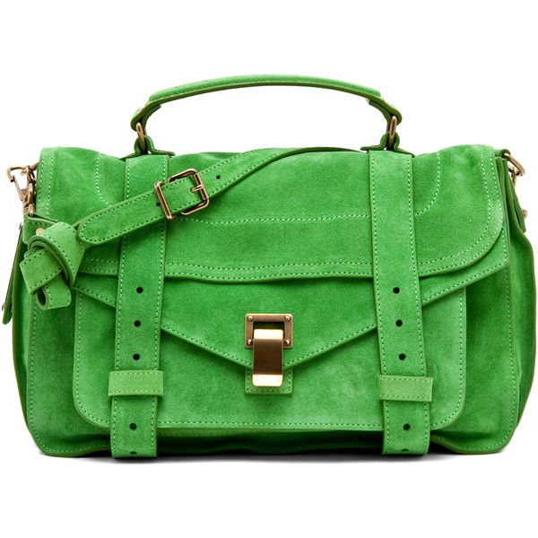 Proenza Schouler PS1 Medium in Tropical Green found on PolyvoreShoulder Bags, Proenza Schouler, Colors, Ps1 Medium, Kelly Green, Bags Lady, Baggg Lady, Tropical Green, Schouler Ps1