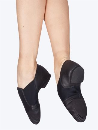 "You said ... ""Slip on black jazz shoes - so easy!"" This is the CAPEZIO ADULT E-SERIES JAZZ SHOE (EJ2), one of our more popular styles. Plenty more brands and styles available online! $29.30"