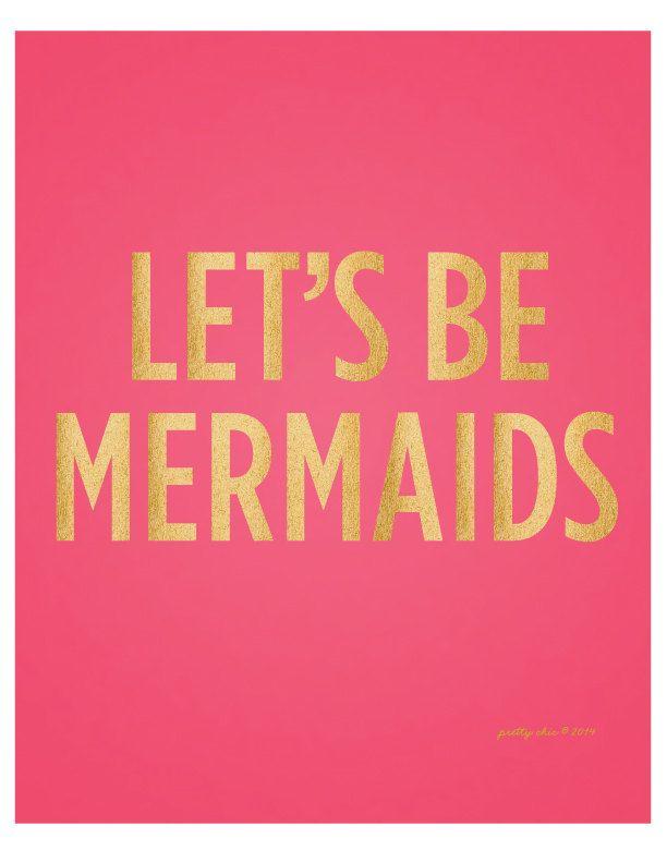 Let's Be Mermaids Beach Summer Art