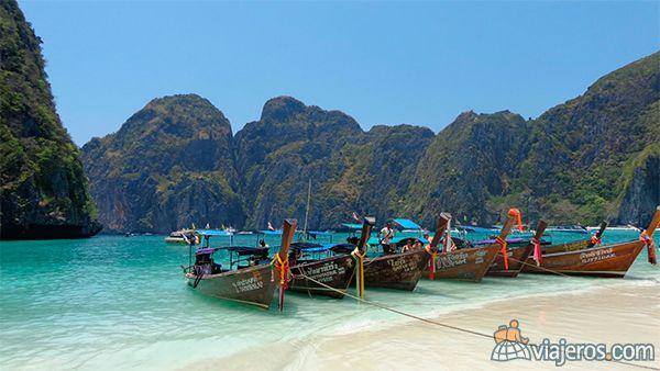 Maya Bay en Ko Phi Phi Leh, Tailandia, destacada del concurso de fotos de mayo. Foto del viajero Masteryamani. Mira más fotos ganadoras en www.viajeros.com