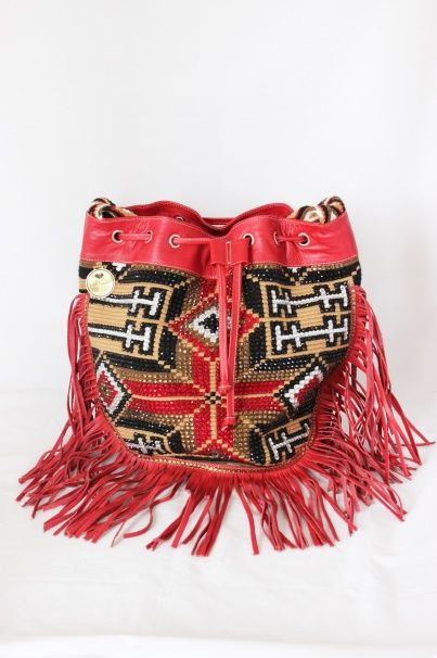 Statement Bag - Lace Floral Red Bag by VIDA VIDA ALWqFUiF