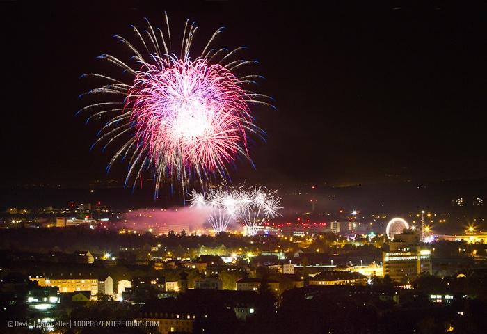 Feuerwerk Freiburger Herbstmesse