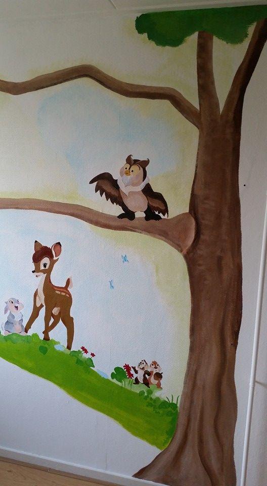 Project K, mural, muurschildering,  acryl, bambi