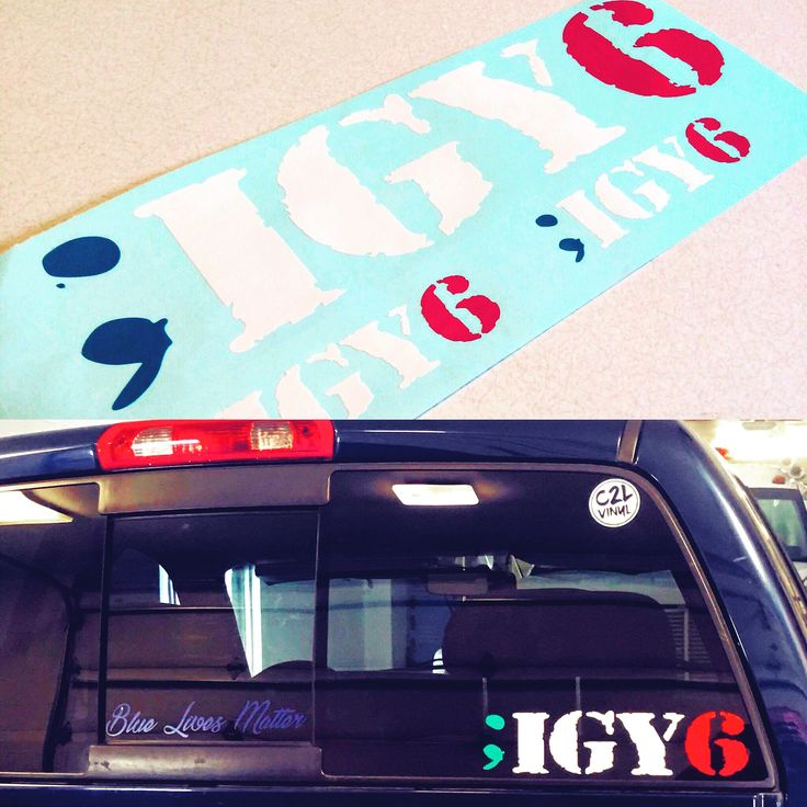 Custom made decals by vinyl