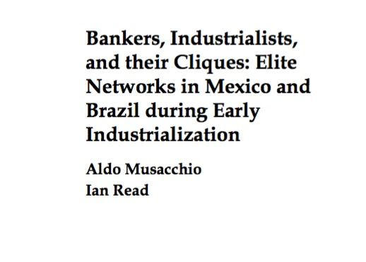 The historiographies of Mexico and Brazil have implicitly stated that business networks were crucial for the initial industrialization of these two countries. Recently, differing visions on the importance of business networks have arisen. In the case of Mexico, the literature argues that entrepreneurs relied heavily on an informal institutional structure to obtain necessary resources and information. Avail as PDF
