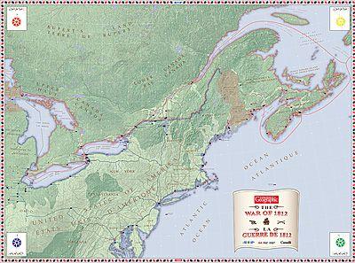 The War of 1812 giant floor map