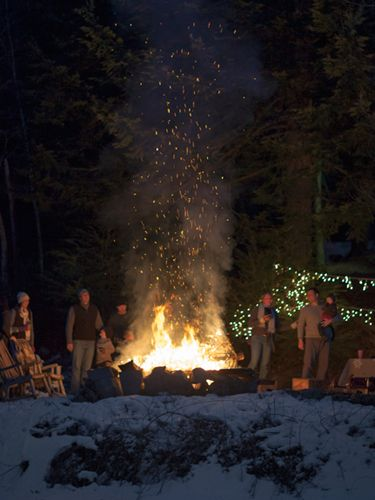 Have a sledding party! Build a bonfire afterwards to get warm. Roast some marshmallows and have some hot chocolate. Mmmmmm!: