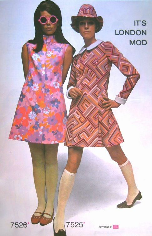 The London Mod Squad  vintage dresses 1960s fashion