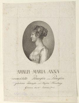 Digitaler Portraitindex: Bildnis der Prinzessin Amalia Maria Anna (Marianne) von Preußen