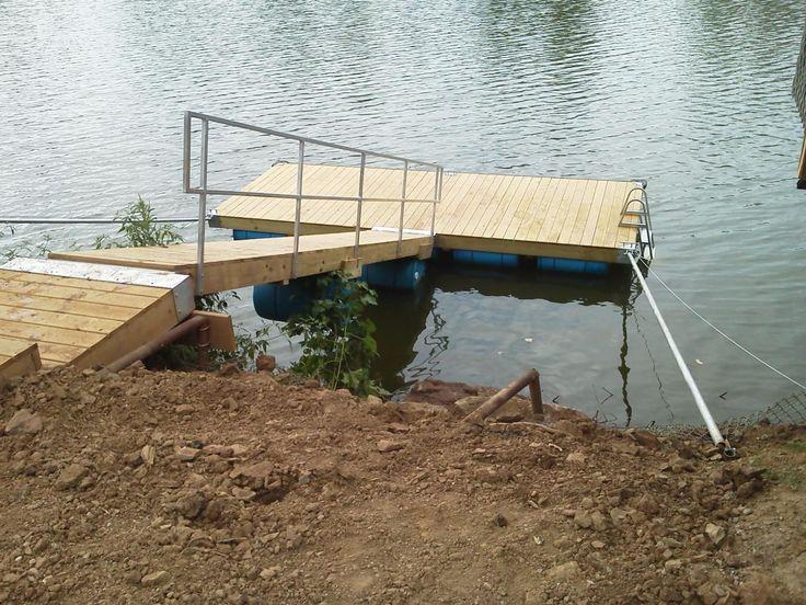 8 x 20 drum dock w 20 ramprailpipes lakefront