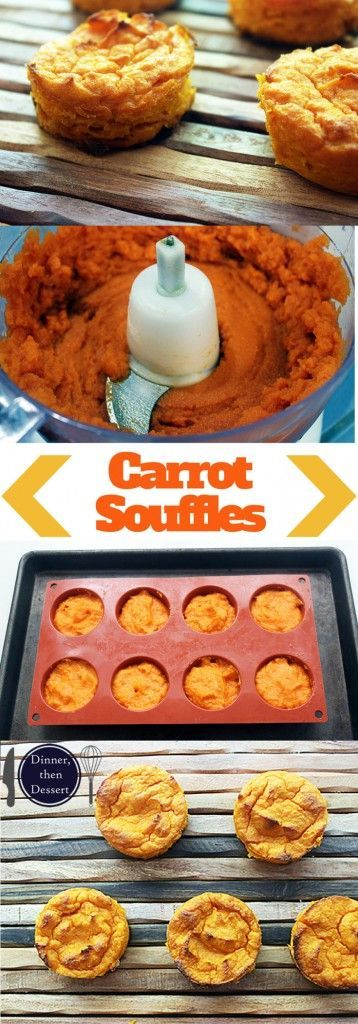 Individual Carrot Souffles are mildly sweet, creamy, fluffy and easy to make. Kid friendly yet dinner party ready!