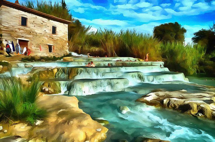 Hot Springs - Saturnia, Italy