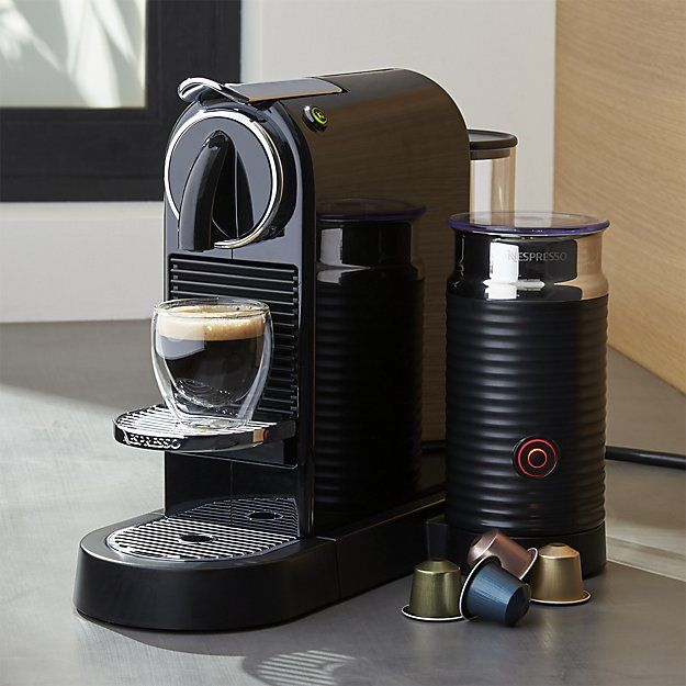 Nespresso's Citiz collection speaks to modern urban living with a fast, efficient espresso coffee maker influenced by retro-modern and industrial design. Featuring Thermobloc heating, 19 bars of pressure and automatic pump priming, this espresso machine produces the purest, subtlest coffee aromas and flavors and the richest crema. Use the two pre-sets or program your own cup volume and top off with frothy milk courtesy of the integrated frother.