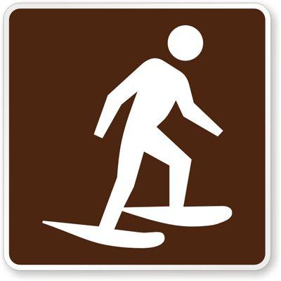 Snowshoeing Symbol - Traffic Sign