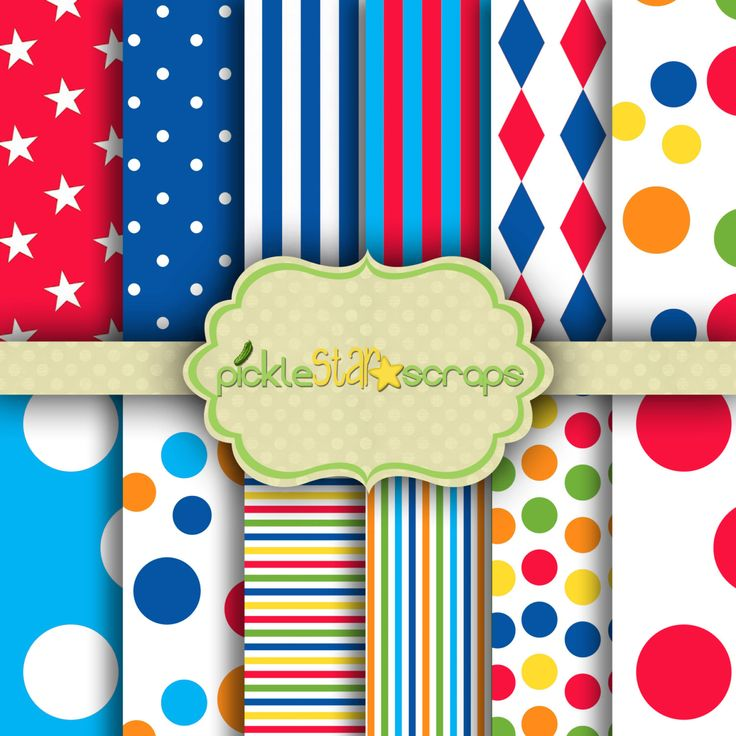 Printable Craft Carnival Papers Circus Printable Carnival Backgrounds Circus Party Carnival Theme Circus 12x12 Circus Vol1 INSTANT DOWNLOAD by PickleStarScraps on Etsy https://www.etsy.com/listing/247530287/printable-craft-carnival-papers-circus