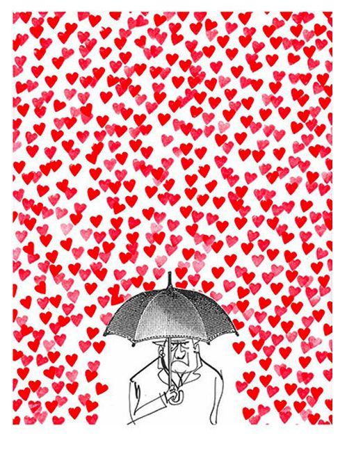 grumpValentine'S Day, Friends Fall, Best Friends, Valentine Day Cards, Happy Face, Valentine Cards, Umbrellas Art, Illustration Art, Be Single