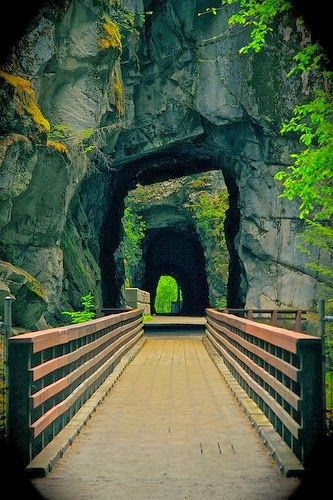 Old Railroad Tunnels in Hope, only a 90-minute drive from Vancouver.   #exploreBC #exploreCanada