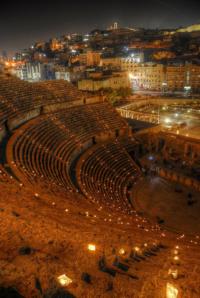 Roman Theatre in Amman,...