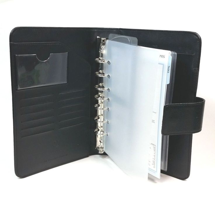Franklin Covey 365 Classic Black 7 Ring Binder Organizer Card Holders Task Sheet #FranklinCovey