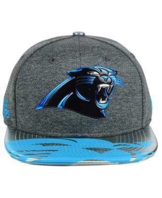 New Era Carolina Panthers 2017 Draft 9FIFTY Snapback Cap - Gray Adjustable