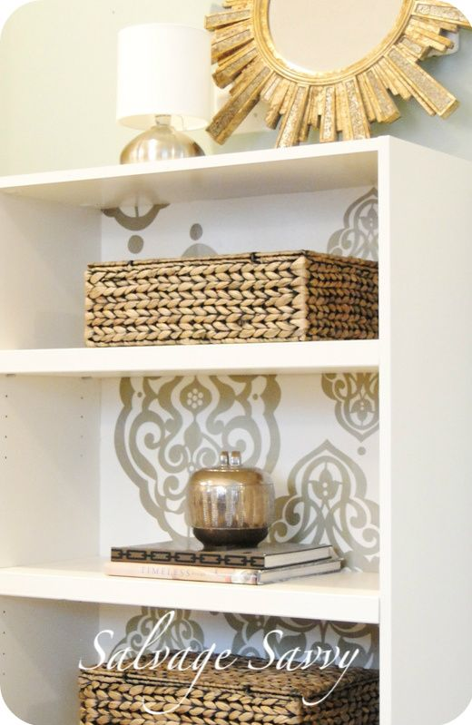 Salvage Savvy How To Give A Laminate Bookcase Fabulous Makeover Using Hollow Core Door For Shelves