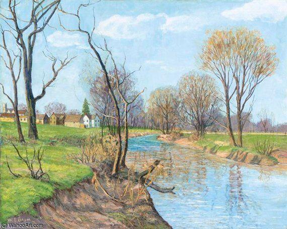Le Creek, Printemps de Walter Emerson Baum (1884-1956, United States)