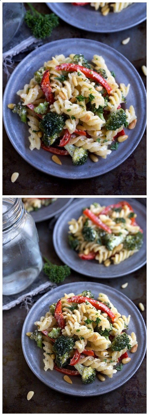 Goat Cheese Pasta, Broccoli, and Pine Nuts