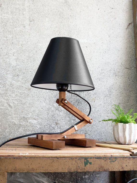 Modern Table Lamp Plat Desk Lighting Accent Lamp Black by Paladim