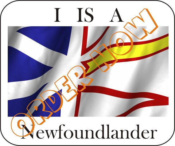 I is a #Newfoundlander DIY printable pdf iron on by Aluminumguy, $5.00
