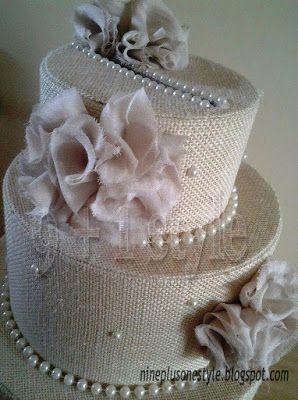 Torta portabuste - Wedding card box in stile shabby