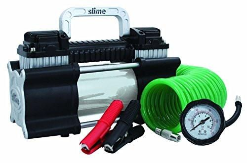 Slime 2X Heavy Duty Direct Drive TIRE INFLATOR, Dual Cylinder AIR COMPRESSOR