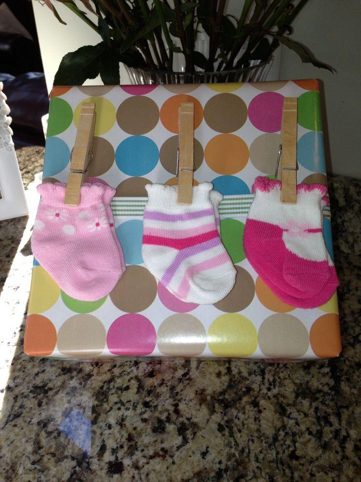 Baby girl gift wrap