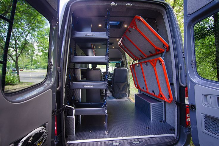 Sprinter Van Bunk Beds >> Bunk Beds - Outside Van | Kampery | Pinterest | Bunk bed