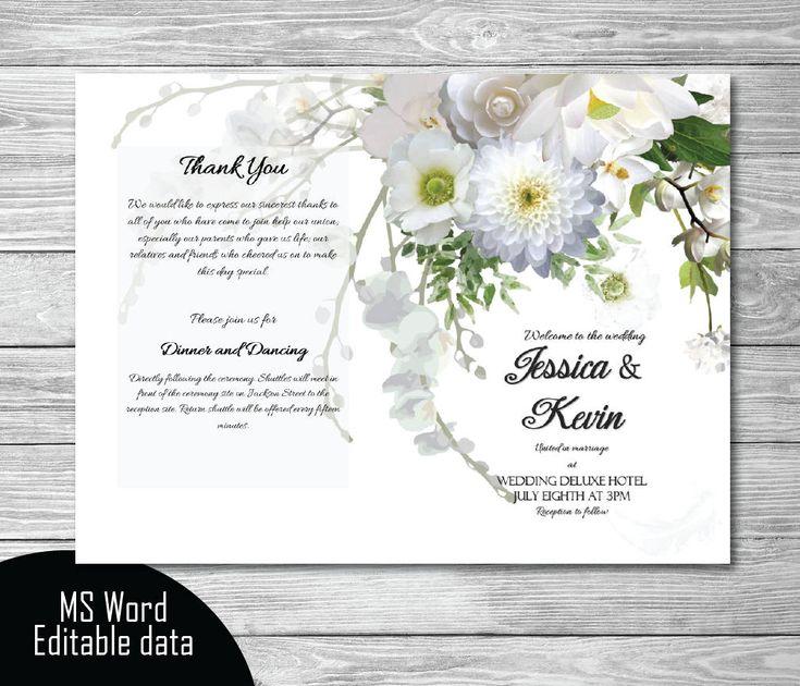 Best 25+ Wedding program template word ideas on Pinterest - how to make invitations on word