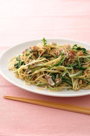 水菜と豚肉の塩焼きそば | 瀬尾幸子さんのレシピ【オレンジページnet ...