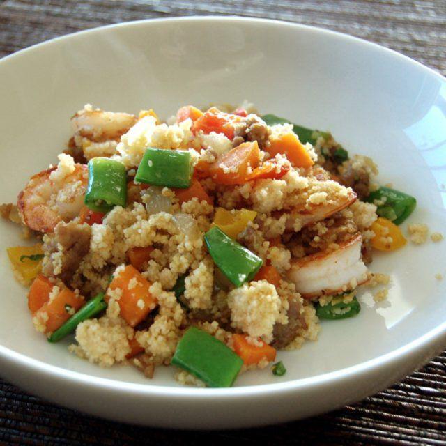 Spicy Sausage and Shrimp Couscous