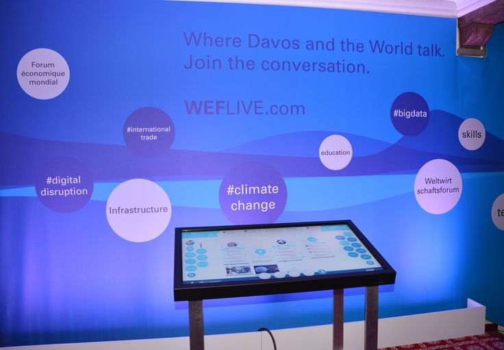 KPMG @ WEF 2015: Our #WEFLIVE interactive touch screen displaying real-time WEF tweets and trends