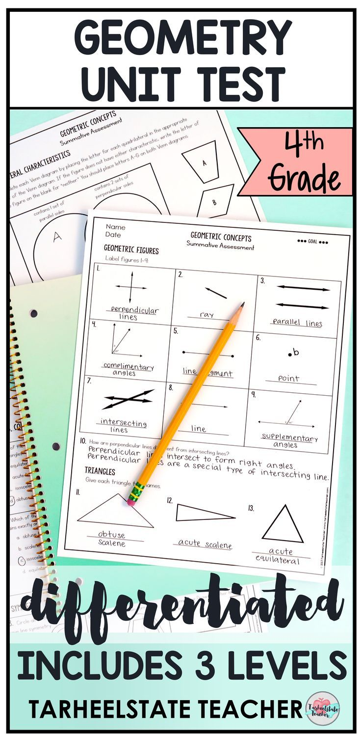 medium resolution of 4th grade geometry tests or worksheets cover naming geometric  figures--points