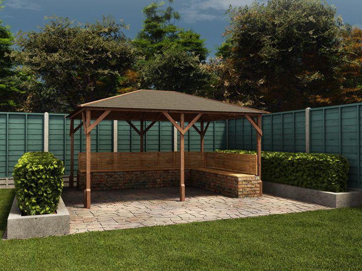Wooden Gazebo Kits Permanent Garden Structure Shelter Heavy Duty Open Hot Tub UK