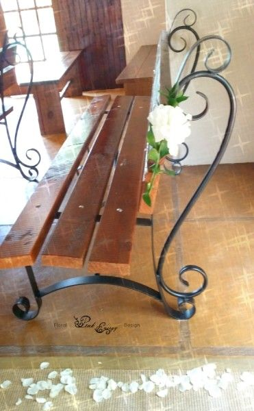 Hertford - pew decor - Floral Design & Decor  by www.pinkenergyfloraldesign.co.za