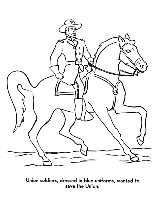 civil war solders coloring pages - photo#9